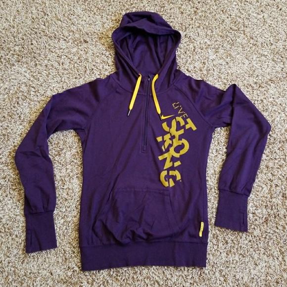 e97b69be7 Nike Sweaters | Live Strong Half Zip Hoodie Euc | Poshmark